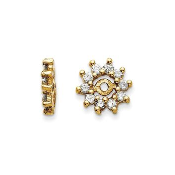 14k Yellow or White Gold  H/I1 Quality  Diamond Earrings Jackets