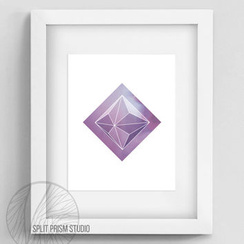 Purple Prism Instant Download, Printable Wall Art, Prism, Geometric Wall Art, Home Decor, Wall Art, Geometric Home Decor, Minimal Wall Art