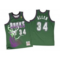 Ray Allen 1996-97 Authentic Jersey Milwaukee Bucks Mitchell & Ness Nostalgia Co.