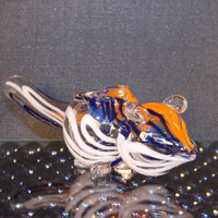Mouse Hand Blown Glass Pipe - Animal Hand Blown Glass Pipes - Animal Pipes - Collectable Tobacco Pipes