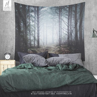 No more roads - Wall tapestry - Tapestry - Wall hangings - Boho - Wanderlust - Nature - Forest tapestry - Home decor - Wall decor - 3 sizes.