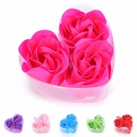 3PCS Bath Body Flower Soap Rose Soap Wedding Favor Shower Home Party Christmas Birthday Valentine's Day Gifts Scented