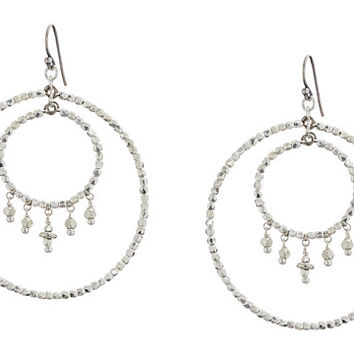 Chan Luu Crystal Double Hoop Earrings Silver - Zappos.com Free Shipping BOTH Ways