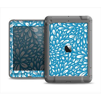The Light Blue & White Floral Sprout Apple iPad Air LifeProof Nuud Case Skin Set