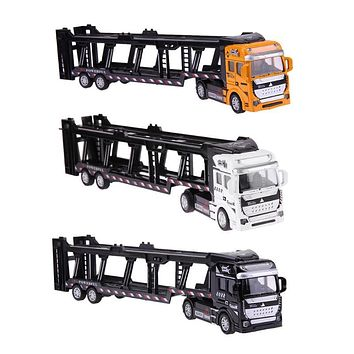 Pull Back Alloy Super Truck Kids Toy Vehicle Simulation Transporter Model Car Toys Children Gift for Boy