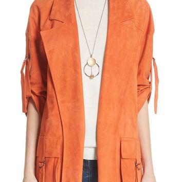 St. John Collection Suede Slouch Jacket | Nordstrom