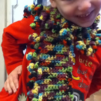 Whimsical Scarf with Curly Fringe