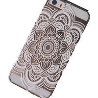 iPhone 6S Case,iPhone 6 Case,Hundromi iphone 6 6S Plastic Transparent Clear Case Cover Henna Ojibwe Dream Catcher Ethnic Tribalfor iPhone 6/6S(4.7-inch)
