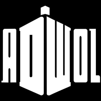 Dr Who Bad Wolf Logo DW  Vinyl Car/Laptop/Window/Wall Decal