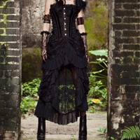 Victorian Gothic all Lace Ruffled Maxi Skirt