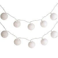 White Lantern String Lights