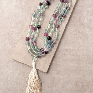 High-Energy Rainbow Fluorite Mala