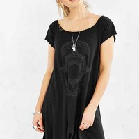 Truly Madly Deeply Mystic Fortune Swingy T-Shirt Dress- Charcoal