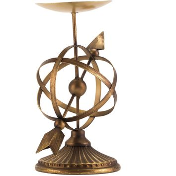 Antique Brass Mundo Candle Holder, Small