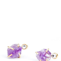 Amethyst & White Sapphire Earrings