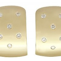 0.30 ct Diamond and 18 ct Yellow Gold Drop Earrings - Vintage Circa 1990