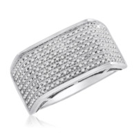 Diamond Micropave Mens Ring 0.40 Cttw in 10KT