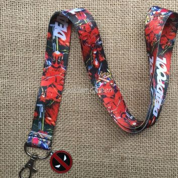 Deadpool Dead pool Taco 1pcs Cartoon  Straps Neck Strap Lanyard Pendant DIY Necklace Jewelry Making AT_70_6
