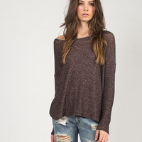 Oversized Simple Sweater Top - Medium