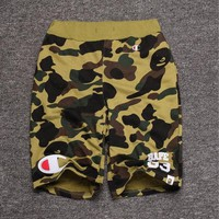 Men's Fashion Camouflage Alphabet Casual Shorts