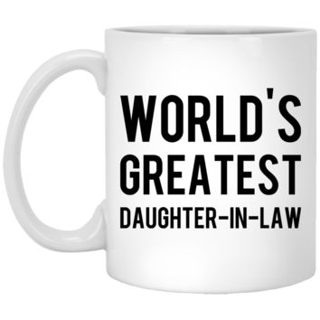 Daughter-In-Law Gift - World's Greatest Daughter-In-Law - 11oz White Coffee Mug
