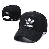 Adidas Summer Women Men Embroidery Sports Sun Hat Baseball Cap Hat Black