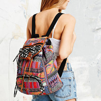 Multi-Print Patterned Hippy Backpack - Urban Outfitters