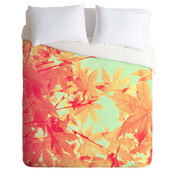 Shannon Clark Spring Leaves Duvet Cover