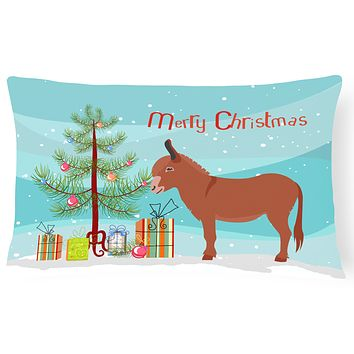 Irish Donkey Christmas Canvas Fabric Decorative Pillow BB9215PW1216