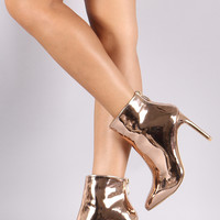 Patent Pointy Toe Stiletto Ankle Boots