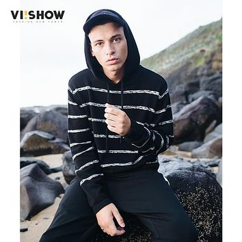 VIISHOW Sweater Men Fashion Striped Knitwear Men Pullovers Sweater Jumpers Men Casual Sweater Wool Sweater Pull Homme ZC2401173