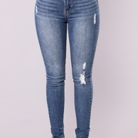 Go Girl Skinny Jeans - Medium Blue