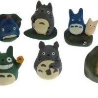 My Neighbor Totoro Cat Figures Assorted Set Of 12