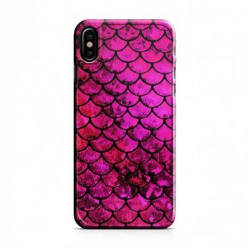 Pink Mermaid Fish Scale iPhone X Case