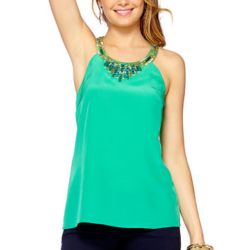 Lilly Pulitzer Corsica Beaded Halter Top