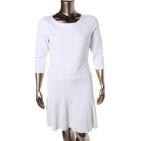 Lauren Ralph Lauren Womens Knit 3/4 Sleeves Sweaterdress