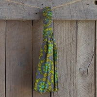 Gray  &  Lime  Green  Indie  Print  Headband  From  Natural  Life