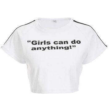 Girls Can Do Anything Crop Tee - shopdevi