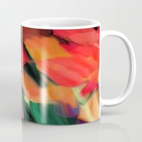 Meadow Flowers At Night Abstract Mug by Jen Warmuth Art And Design