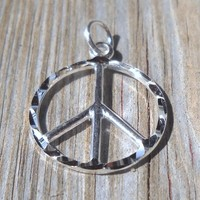 925 Sterling Silver Peace Pendant