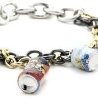 Disney Couture Crushed Cans Charm Bracelet