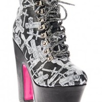 Iron Fist Don't Cross Me Platform Bootie Black Buy Online Direct from Iron Fist - Iron Fist