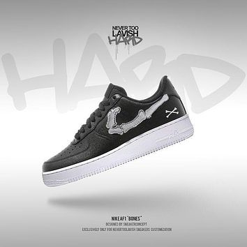 NikeAf1 Bones - air force one custom