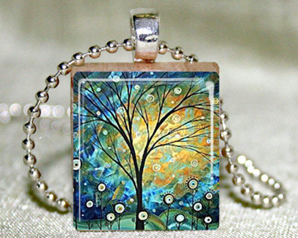 Sunny Day Scrabble Pendant With Necklace And Matching Gift Tin | Luulla