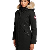Canada Goose Women's Kensington Parka,Black,X-Large