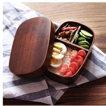 ICIK272 Japanese bento boxes wood lunch box handmade natural wooden sushi box tableware bowl Food Container