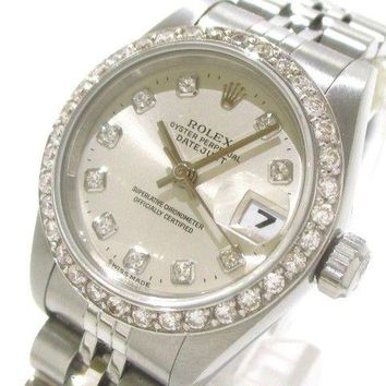 Auth ROLEX Datejust 69174G Silver T290980 Women's Wrist Watch