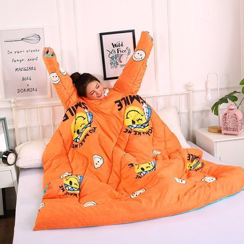 Blanket for Kids Adults Cartoon Creative Lazy Cotton Quilt