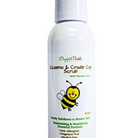 Cradle Cap Treatment Scrub Removes Flakes and Scales with Gentle Natural Formula for Babies, Kids and Adults with Sensitive Skin or Eczema