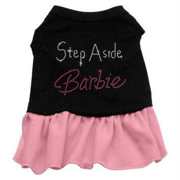 LMFHJ2 Step Aside Barbie Rhinestone Dress Black with Pink Sm (10)